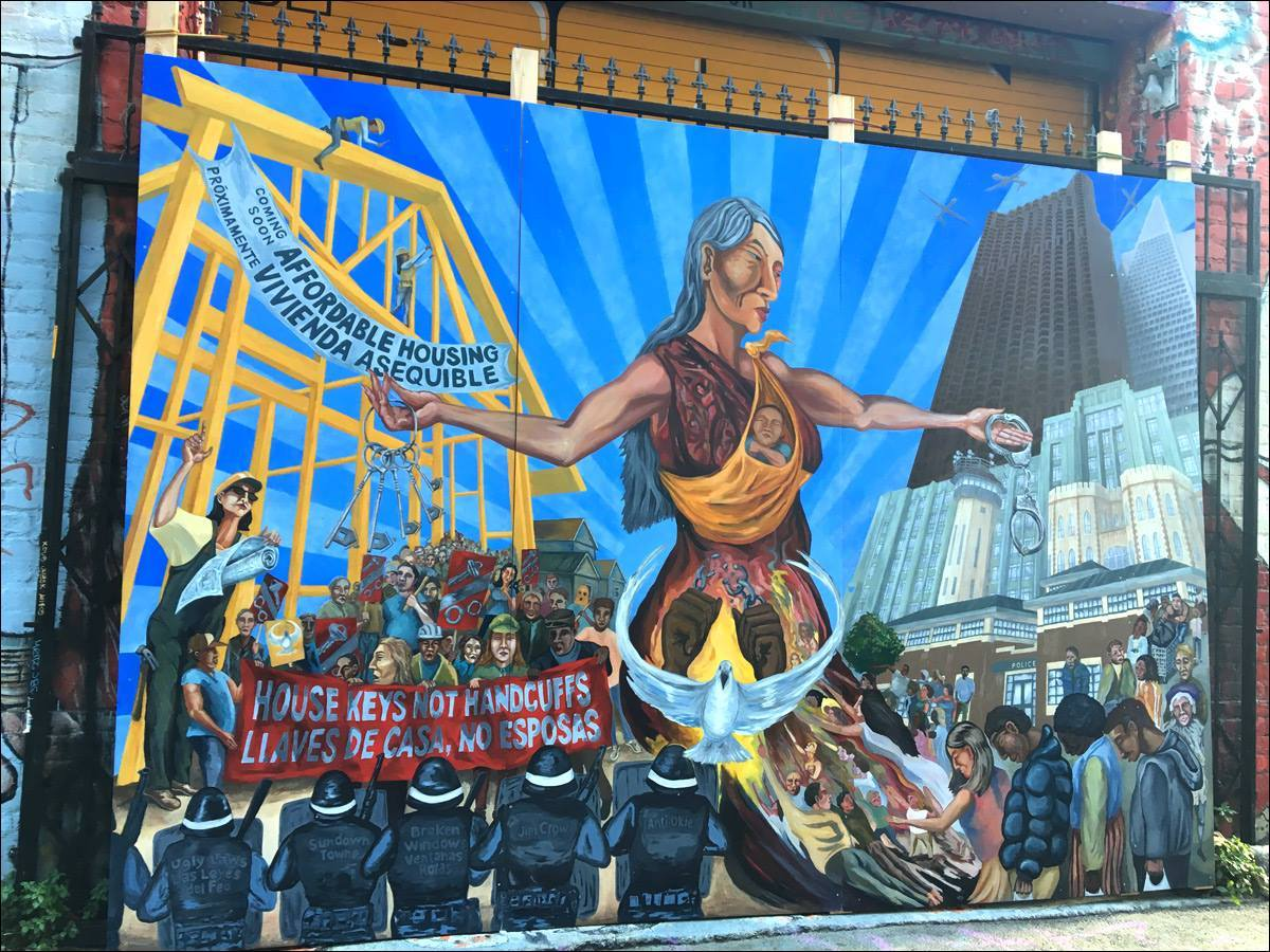 Homeless/Human Rights & Affordable Housing Mural